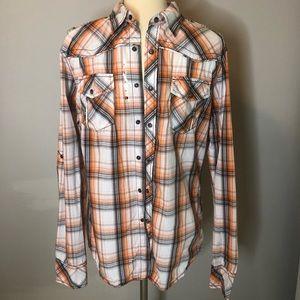 BKE plaid shirt - men's medium